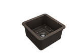 "BOCCHI Sotto 18"" Fireclay Undermount Single Bowl Kitchen Sink, Matte Brown, 1359-025-0120 Top View 
