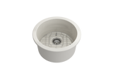 "BOCCHI Sotto 19"" Fireclay Undermount Single Bowl Kitchen Sink, Biscuit, 1361-014-0120 Straight View 