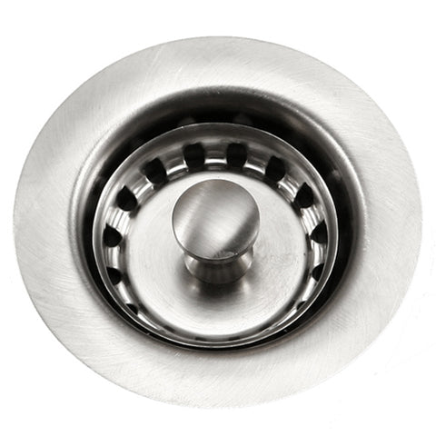 "Houzer 2"" Stainless Steel Junior Basket Strainer, 190-4200"