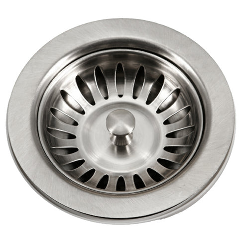 "Houzer 5"" Stainless Steel Basket Strainer, 190-9180"