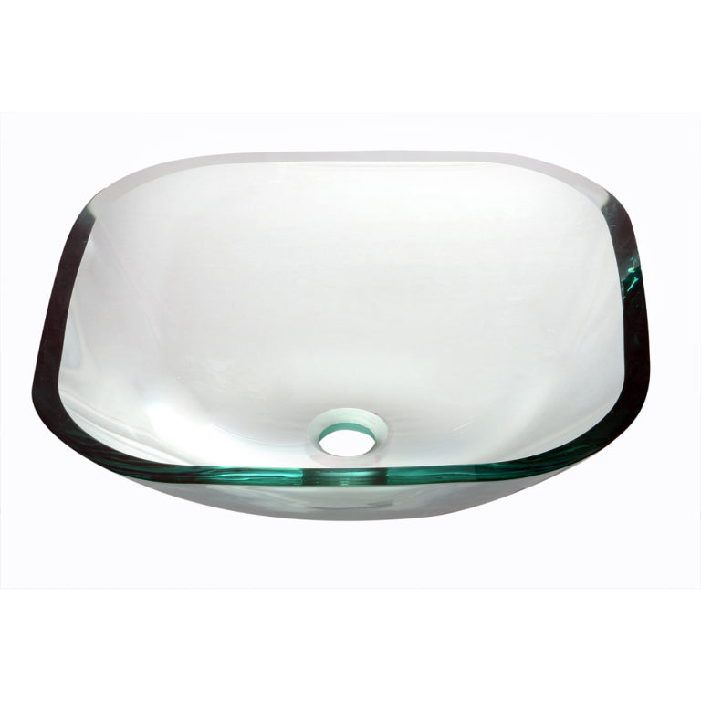 Dawn 16 Tempered Glass Vessel Sink Clear Square Gvb84001 The