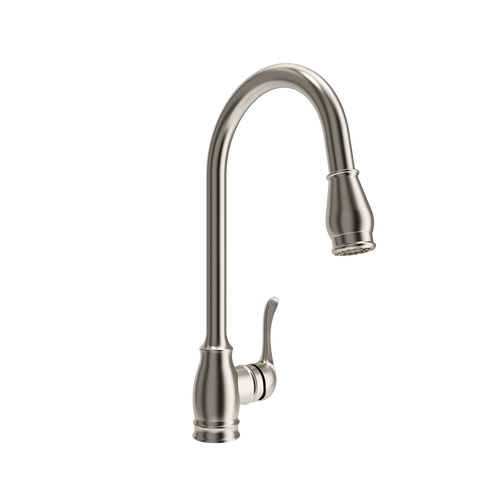 BOCCHI Belsena Pull-Out Spray Kitchen Faucet, Brushed Nickel, 2002 0001 BN - The Sink Boutique