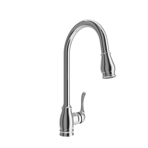BOCCHI Belsena Pull-Out Spray Kitchen Faucet, Polished Chrome, 2002 0001