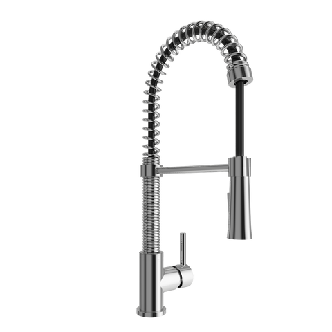 BOCCHI Livenza Spiral Pull-Down Spray Kitchen Faucet, Polished Chrome, 2014 0001