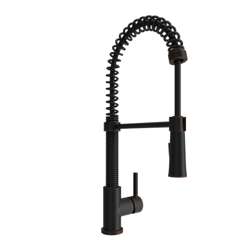 BOCCHI Livenza Spiral Pull-Down Spray Kitchen Faucet,  Oil Rubbed Bronze, 2014 0001 ORB