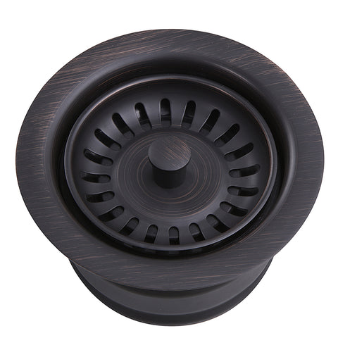 Nantucket Sink 3.5 Inch Extended Flange Disposal Kitchen Drain Brushed Oil Rubbed Bronze 3.5EDF-ORB