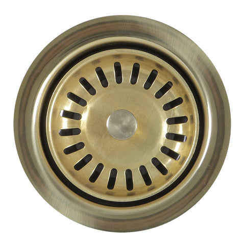 Nantucket Sinks Nantucket Sink 3.5 Inch Extended Flange Disposal Kitchen Drain Brass, 3.5EDF-PB