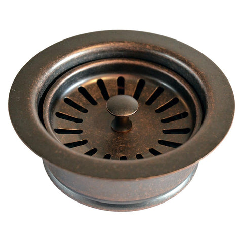 "Native Trails 3.5"" Disposer Trim w/Basket Strainer in Weathered Copper, DR340-WC"