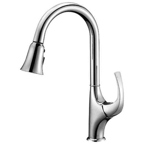 "Dawn 15"" 1.8 GPM Pull Out Kitchen Faucet, Chrome, AB04 3277C"