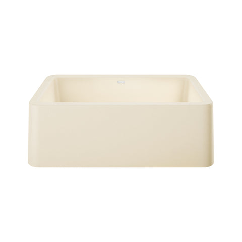 "Blanco Ikon 33"" Single Bowl Farmhouse Apron Sink, Biscuit - The Sink Boutique"