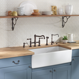 "Rohl Shaws 36"" Fireclay Single Bowl Farmhouse Apron Kitchen Sink, Parchment, RC3618PCT - The Sink Boutique"