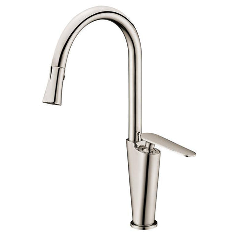 "Dawn 15"" 1.8 GPM Kitchen Faucet, Brushed Nickel, AB27 3602BN"