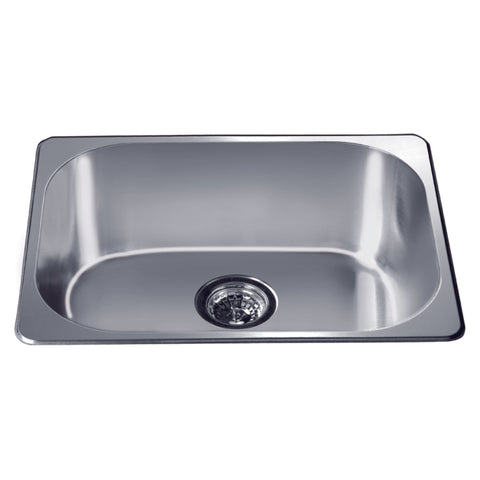 "Dawn 22"" Stainless Steel Top Mount Kitchen Sink, 3233"