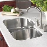 "Houzer 33"" Stainless Steel Undermount 70/30 Double Bowl Kitchen Sink, MC-3210SR-1 - The Sink Boutique"