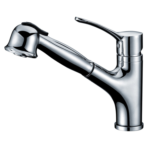 "Dawn 9"" 1.8 GPM Pull Out Kitchen Faucet, Chrome, AB50 3712C"