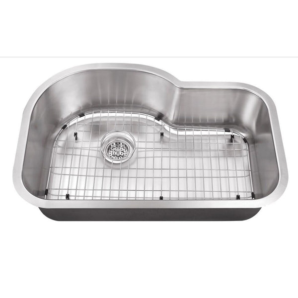 "Cahaba 32"" Stainless Steel Single Bowl Undermount Kitchen Sink - The Sink Boutique"
