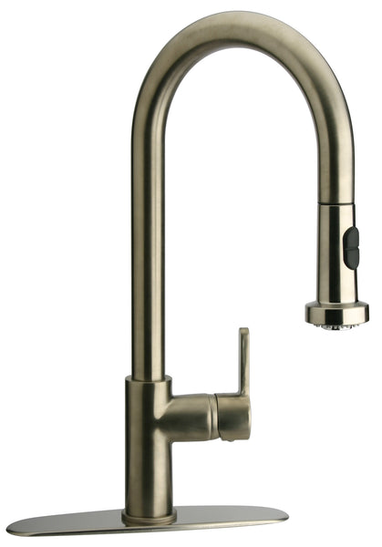 Latoscana Elix Single Handle Pull Down Spray Kitchen Faucet, Brushed Nicikel, 92PW591LL - The Sink Boutique