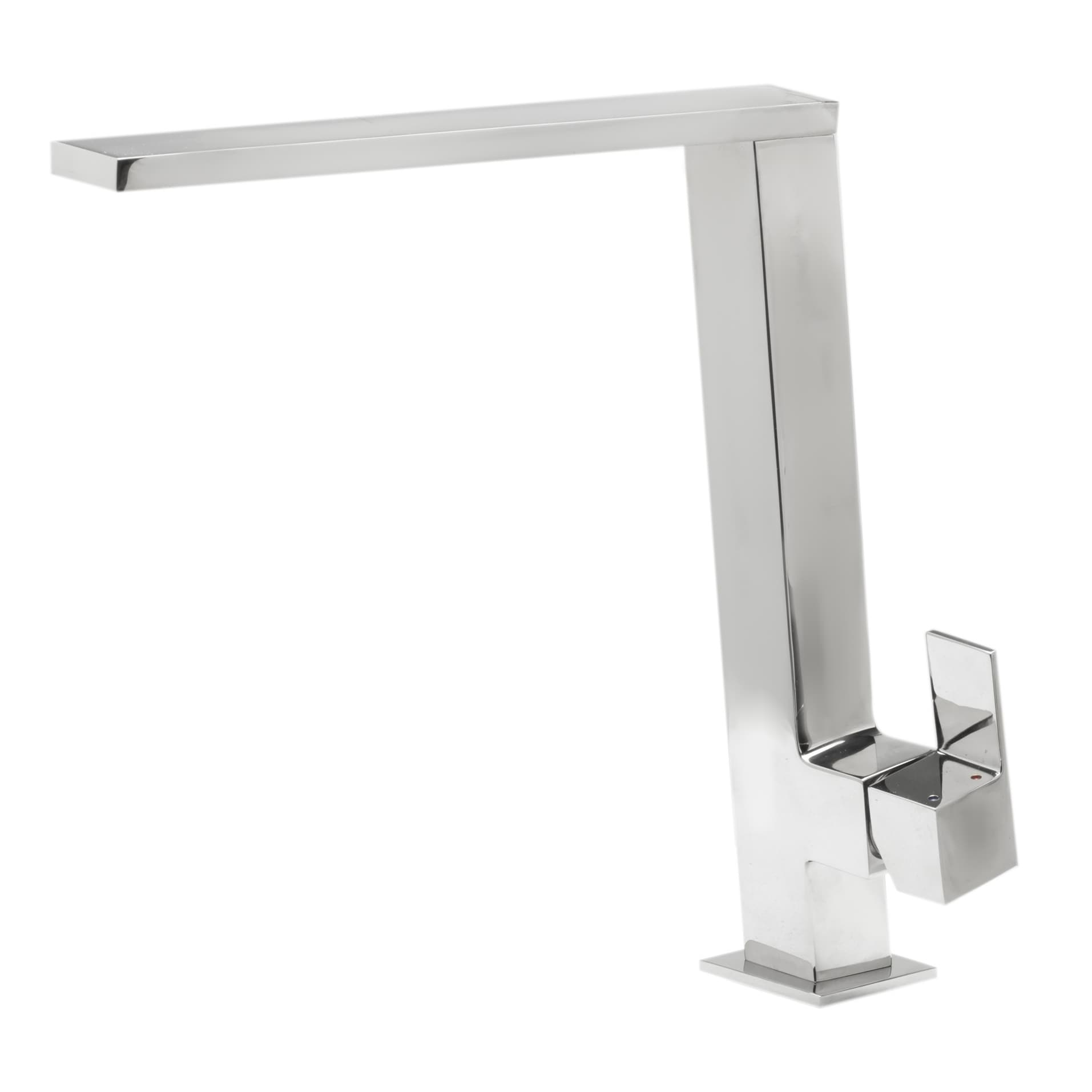 Alfi Square Modern Polished Stainless Steel Kitchen Faucet Ab2047 Pss The Sink Boutique