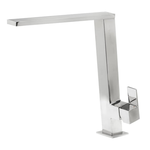 ALFI Square Modern Polished Stainless Steel Kitchen Faucet, AB2047-PSS - The Sink Boutique