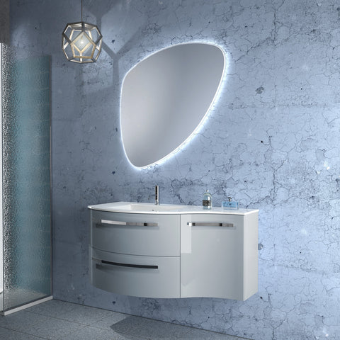 "Latoscana 43"" Modern Bathroom Vanity, Right Side Cabinet, Ambra Series - The Sink Boutique"
