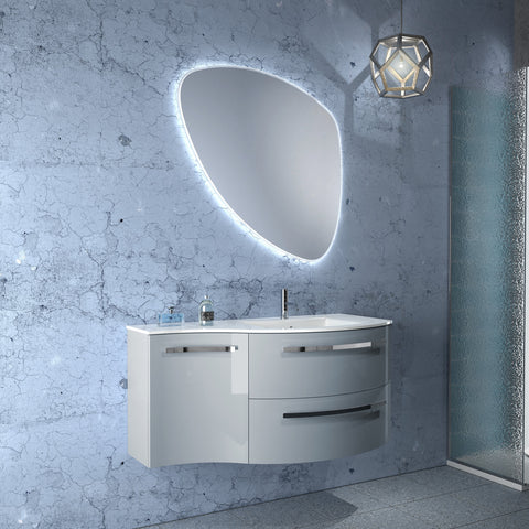 "Latoscana 43"" Modern Bathroom Vanity, Left Side Cabinet, Ambra Series - The Sink Boutique"