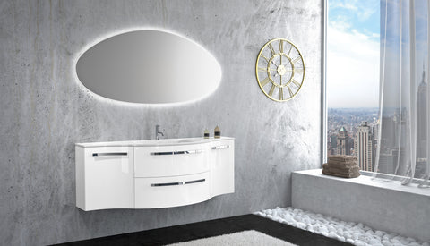 "Latoscana 57"" Modern Bathroom Vanity, Ambra Series - The Sink Boutique"