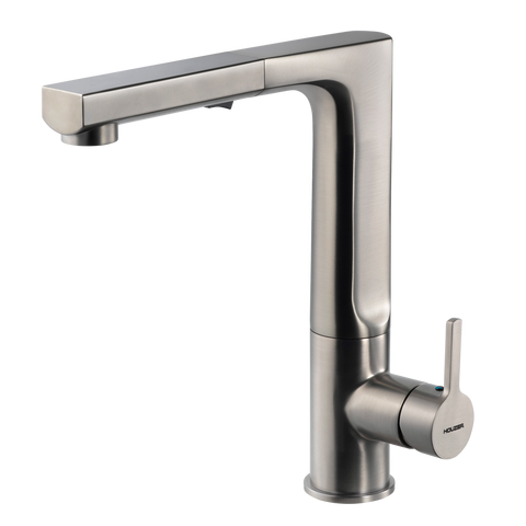 Houzer Ascend Pull Out Kitchen Faucet Brushed Nickel, ASCPO-460-BN