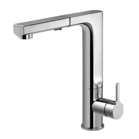 Houzer Ascend Pull Out Kitchen Faucet with CeraDox Technology Polished Chrome, ASCPO-460-PC