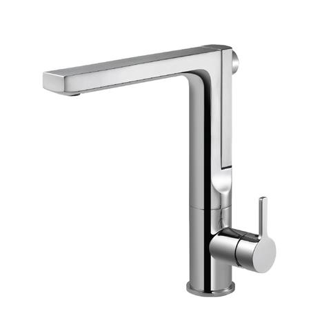 Houzer Ascend Integrated Pull Up Kitchen Faucet with CeraDox Technology Polished Chrome, ASCPU-460-PC