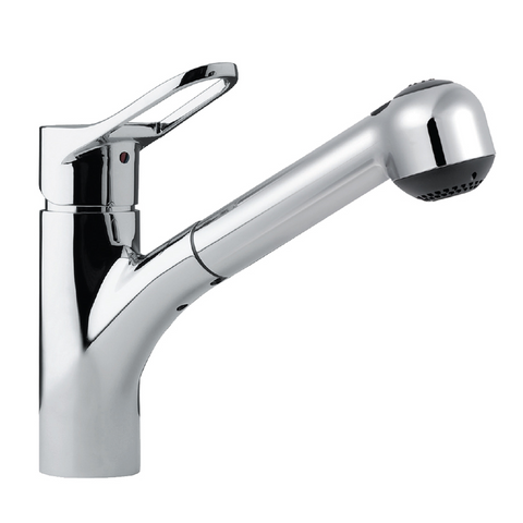 Houzer Ayr Pull Out Kitchen Faucet with CeraDox Technology Polished Chrome, AYRPO-972-PC