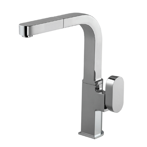 Houzer Azura Pull Out Kitchen Faucet with CeraDox Technology Polished Chrome, AZUPO-965-PC