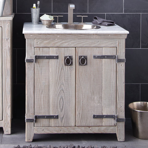 "Native Trails 30"" Americana Vanity in Driftwood, VNB309"
