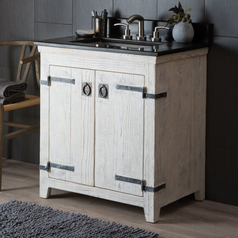 "Native Trails 30"" Americana Vanity in Whitewash, VNB300"