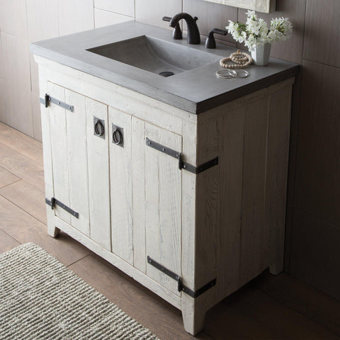 "Native Trails 36"" Americana Vanity in Whitewash, VNB360"