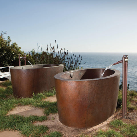 "Native Trails 64"" Copper Aspen Bathtub, Antique Copper, CPS802"