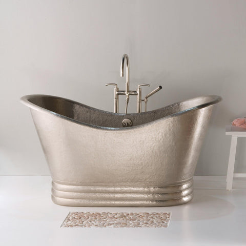 "Native Trails 72"" Nickel 72"" Aurora Bathtub, Brushed Nickel, CPS905"