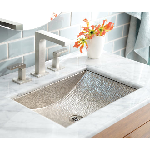 "Native Trails Avila 21"" Rectangle Nickel Bathroom Sink, Brushed Nickel, CPS545"