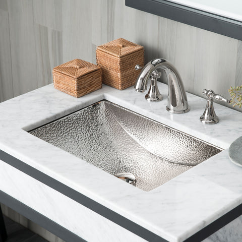"Native Trails Avila 21"" Rectangle Nickel Bathroom Sink, Polished Nickel, CPS845"
