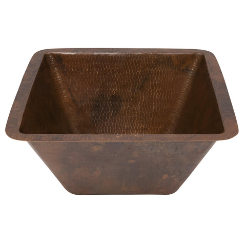 "Premier Copper Products 15"" Copper Bar/Prep Sink, Oil Rubbed Bronze, BS15DB3"