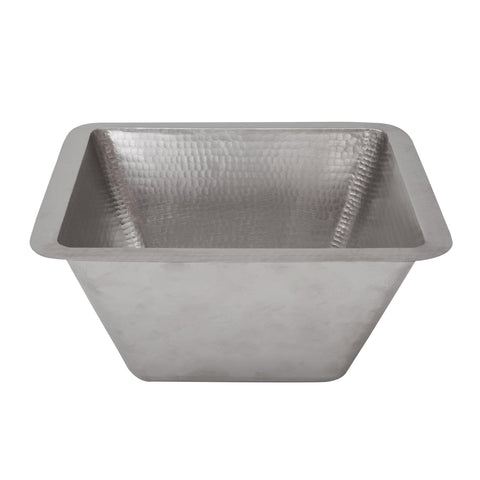 "Premier Copper Products 15"" Copper Bar/Prep Sink, Nickel, BS15EN2"