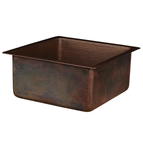 "Premier Copper Products 16"" Copper Bar/Prep Sink, Oil Rubbed Bronze, BS16DB3"