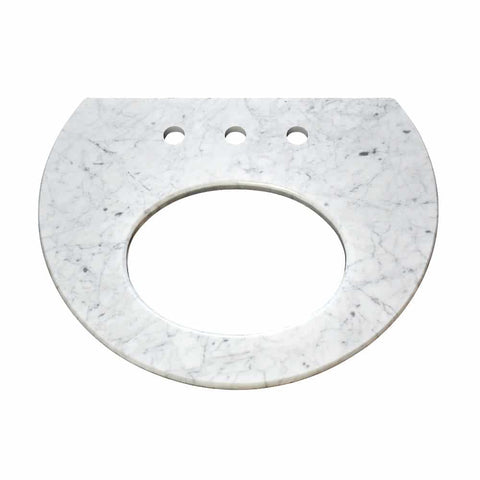 "Native Trails 24"" Carrara Vanity Top for Bordeaux Wall Mount - Small Oval with 8"" Widespread Cutout, VNT20-CB"