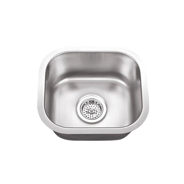"15"" Stainless Steel Single Bowl Bar Sink"