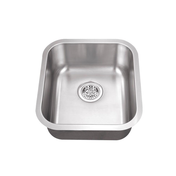 "18"" Stainless Steel Single Bowl Bar Sink"