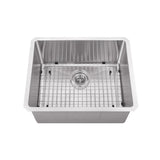 "Cahaba 23"" Stainless Steel Single Bowl Bar Sink Set with Faucet - The Sink Boutique"