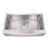 "Cahaba 33"" Stainless Steel Single Bowl Farmhouse Sink Set with Faucet"