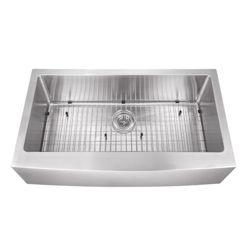 "36"" Stainless Steel Single Bowl Farmhouse Sink"