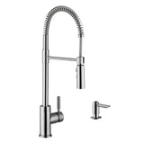 "Cahaba 29"" Stainless Steel Double Bowl Undermount Kitchen Sink Set with Faucet - The Sink Boutique"