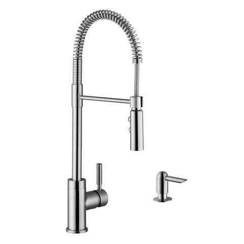 "Cahaba 23"" Single Handle Faucet, Pull Down, Industrial Style"