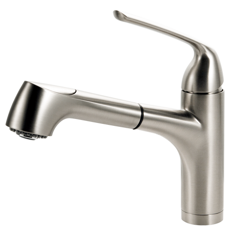 Houzer Calia Pull Out Bar Faucet Brushed Nickel, CALPO-559-BN